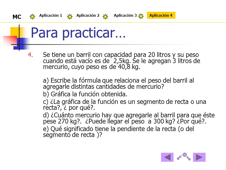 Para practicar… 4.