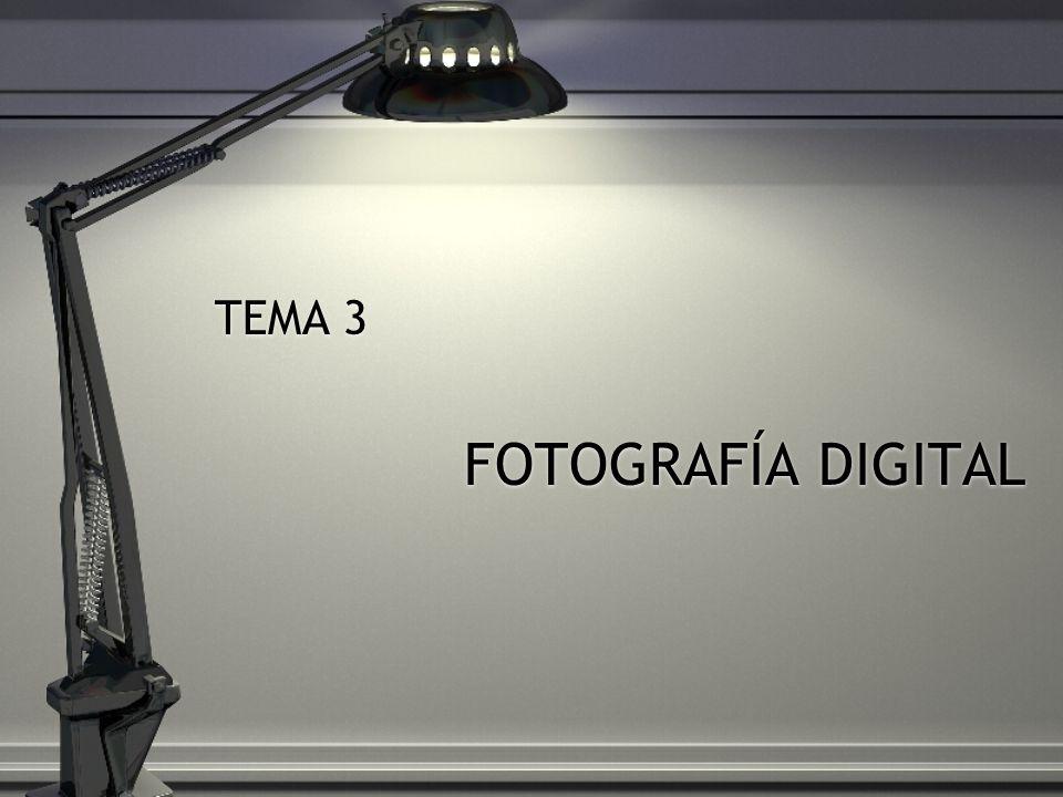 TEMA 3 FOTOGRAFÍA DIGITAL TEMA 3 FOTOGRAFÍA DIGITAL