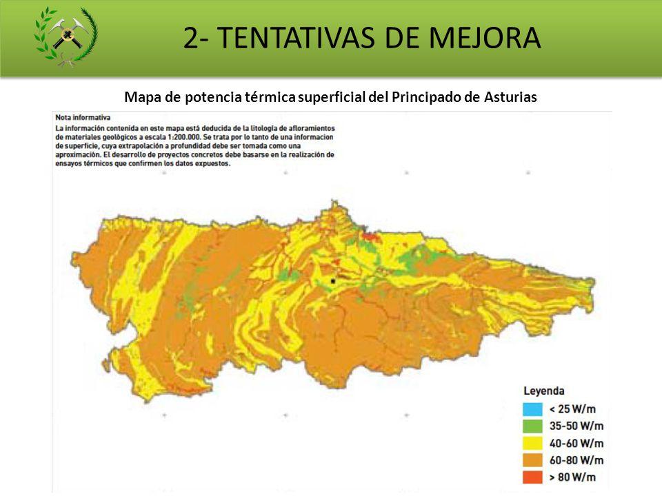 Mapa de potencia térmica superficial del Principado de Asturias 2- TENTATIVAS DE MEJORA