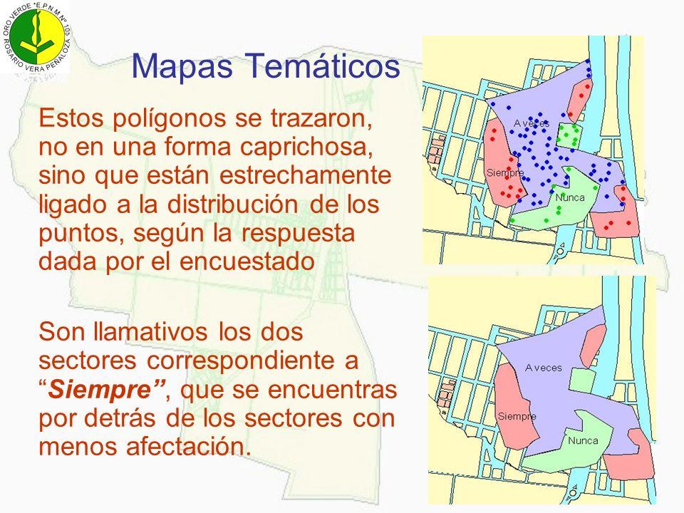 Mapas Temáticos Estos polígonos se trazaron, no en una forma caprichosa, sino que están estrechamente ligado a la distribución de los puntos, según la