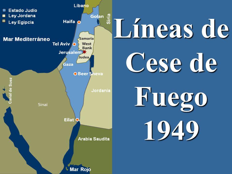 Plan de Partición 1947 Canal de Suez Siria Mar Rojo