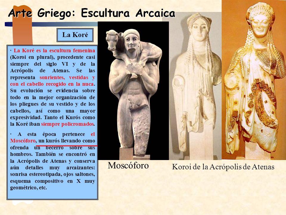 La Koré · La Koré es la escultura femenina (Koroi en plural), procedente casi siempre del siglo VI y de la Acrópolis de Atenas. Se las representa sonr