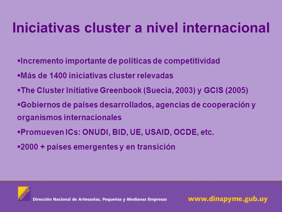 Iniciativas cluster a nivel internacional Incremento importante de políticas de competitividad Más de 1400 iniciativas cluster relevadas The Cluster I