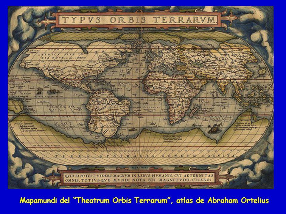 Mapamundi del Theatrum Orbis Terrarum, atlas de Abraham Ortelius
