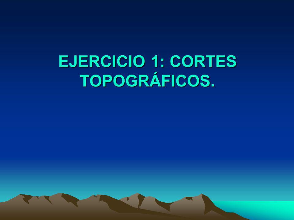 EJERCICIO 1: CORTES TOPOGRÁFICOS.