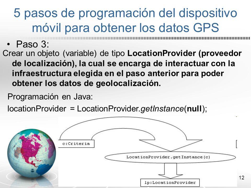 13 Paso 4: Asociar nuestro LocationProvider con LocationListener.