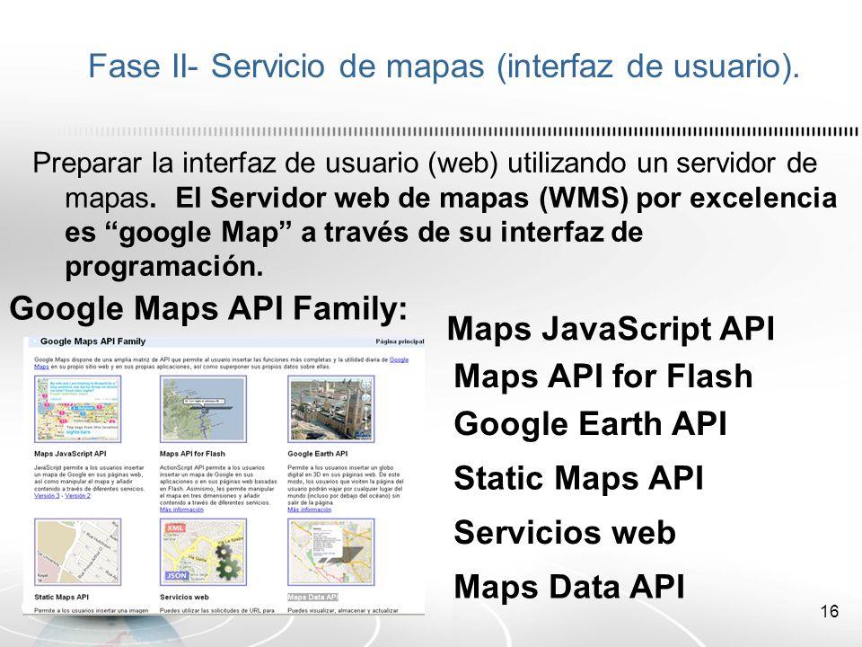 17 Fase II- Servicio de mapas (interfaz de usuario).