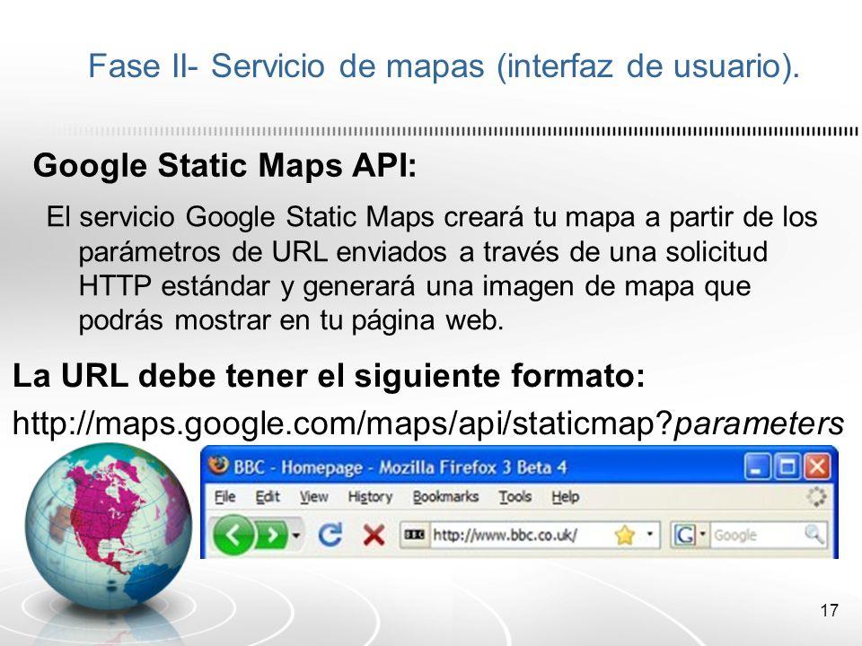 18 Fase II- Servicio de mapas (interfaz de usuario).