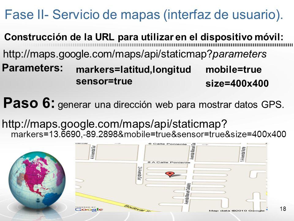 19 Desarrollo de la aplicación – Parte 2 Integrar el servicio de mapas en la aplicación móvil.
