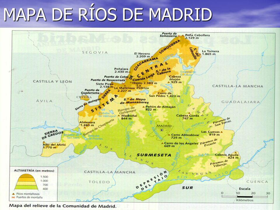 MAPA DE RÍOS DE MADRID
