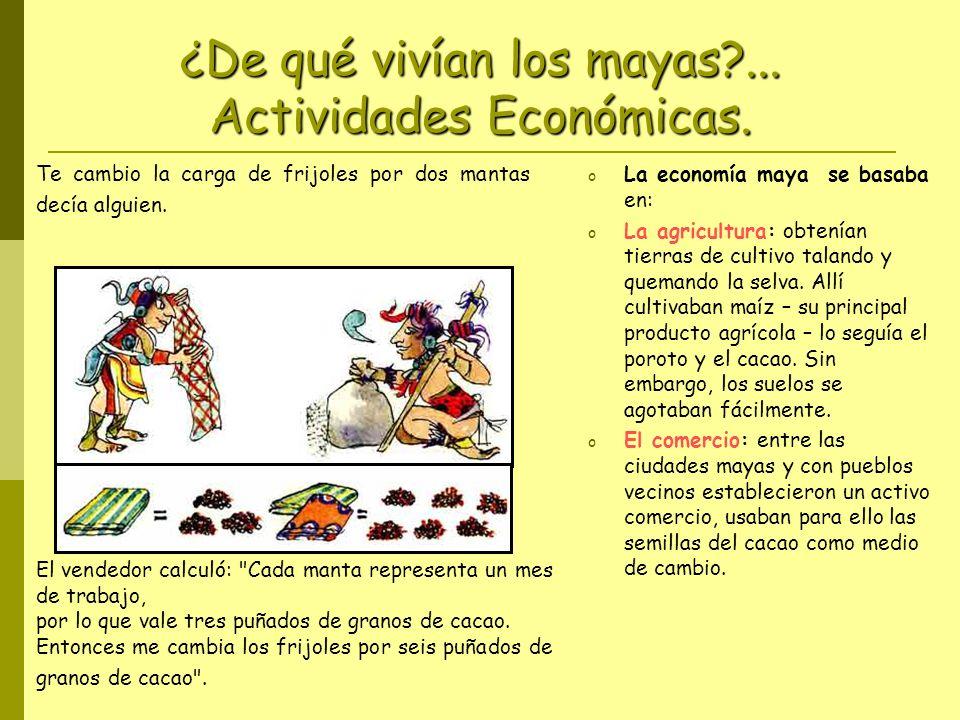 ¿De qué vivían los mayas?...Actividades Económicas.