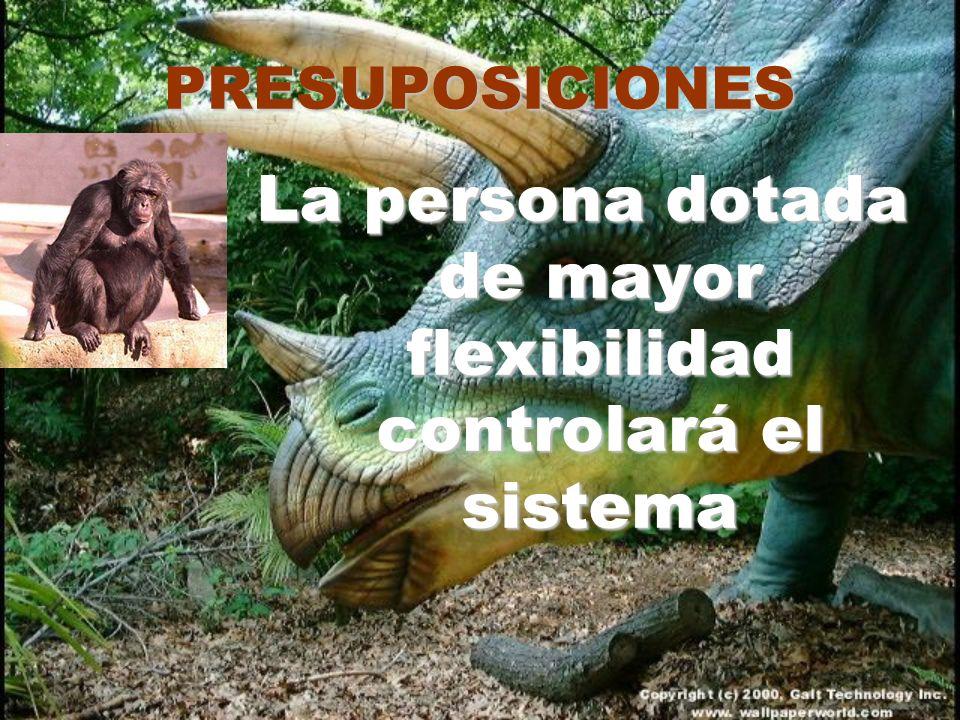 PRESUPOSICIONES La persona dotada de mayor flexibilidad controlará el sistema