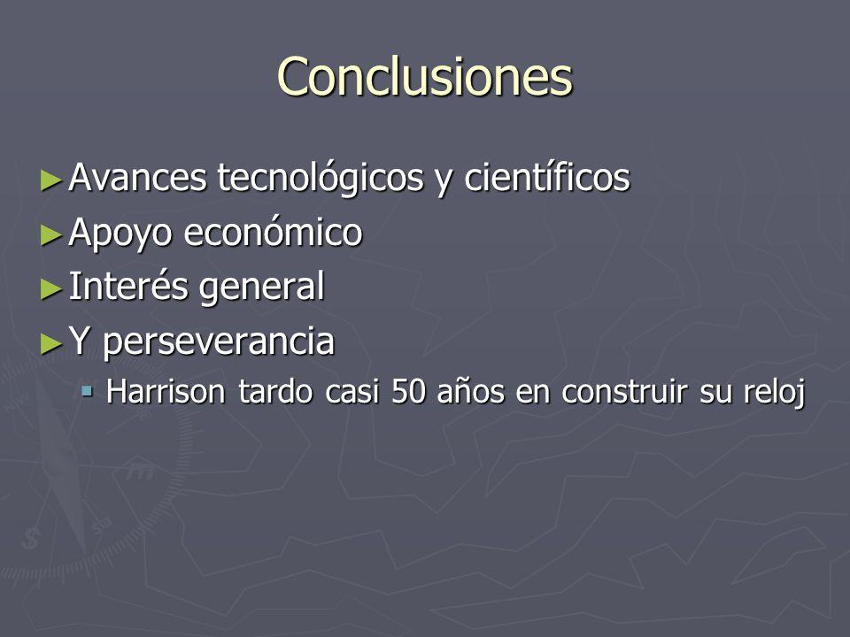 Conclusiones Avances tecnológicos y científicos Avances tecnológicos y científicos Apoyo económico Apoyo económico Interés general Interés general Y p