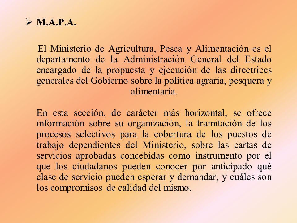 3. INSTITUCIONES Entre las distintas Instituciones que están relacionadas con el sector primario cabe destacar: P.A.C. (Política Agraria Común) M.A.P.