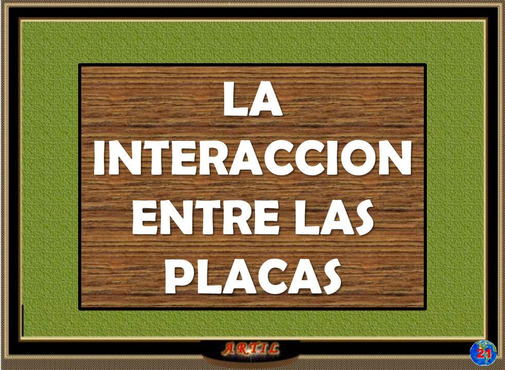 21 LA INTERACCION ENTRE LAS PLACAS