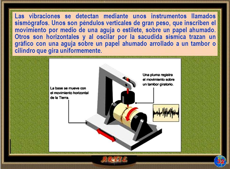 Las vibraciones se detectan mediante unos instrumentos llamados sismógrafos.