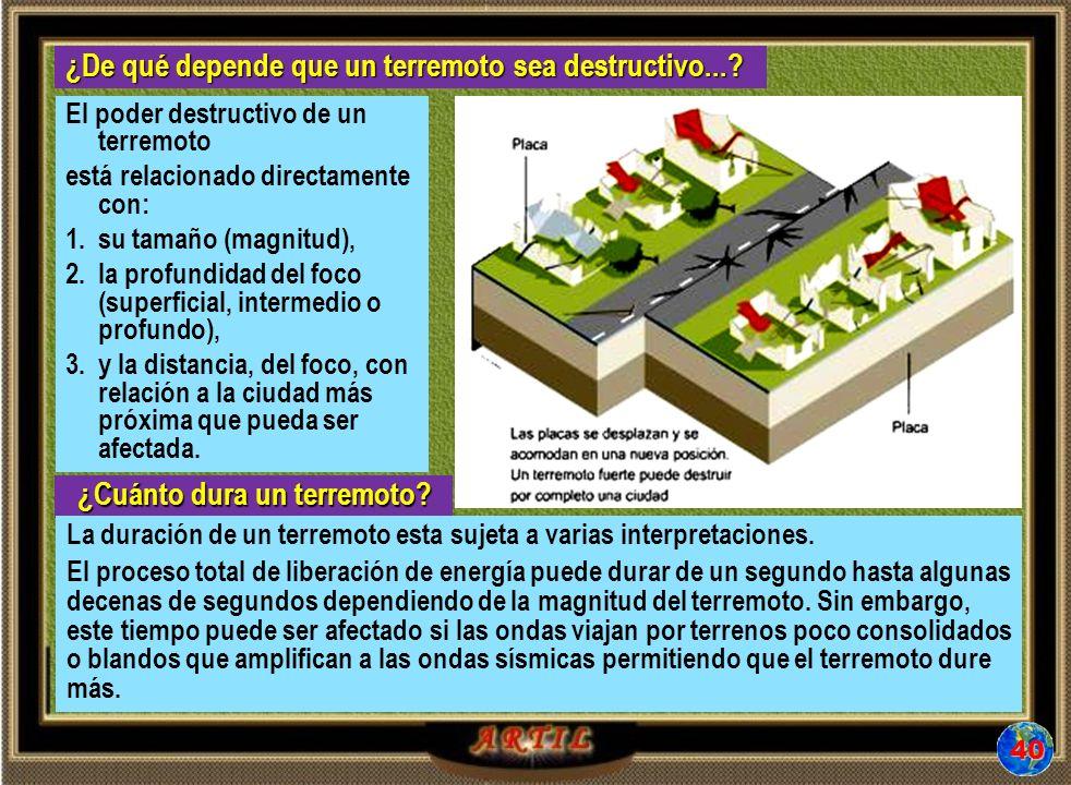 ¿De qué depende que un terremoto sea destructivo....