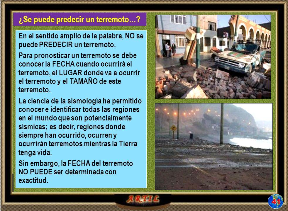 ¿Se puede predecir un terremoto….