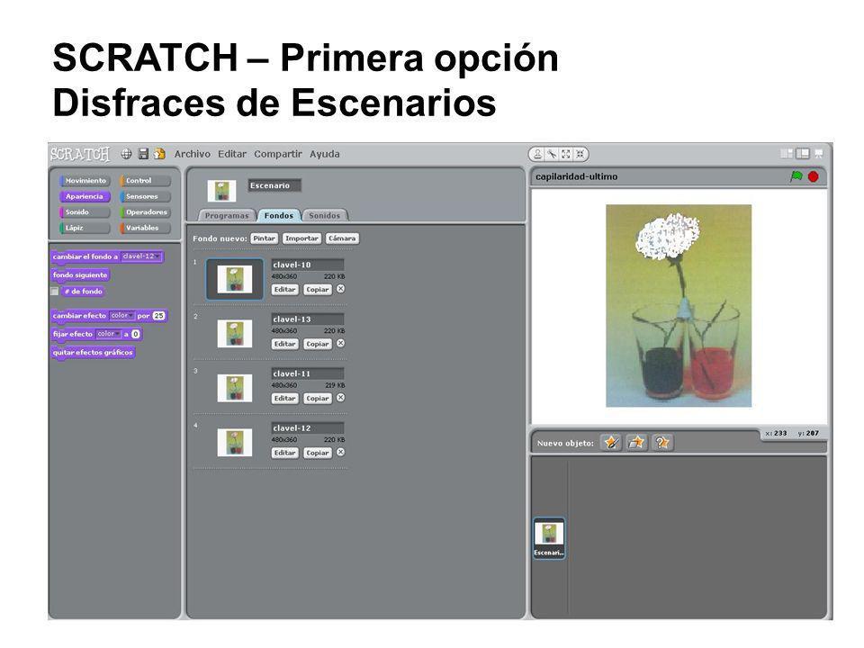 SCRATCH – Primera opción Disfraces de Escenarios