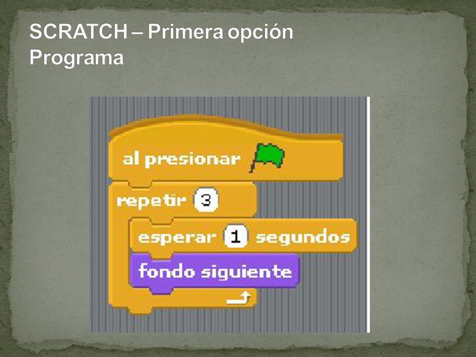 SCRATCH – Segunda opción Disfraces de un objeto seleccionado