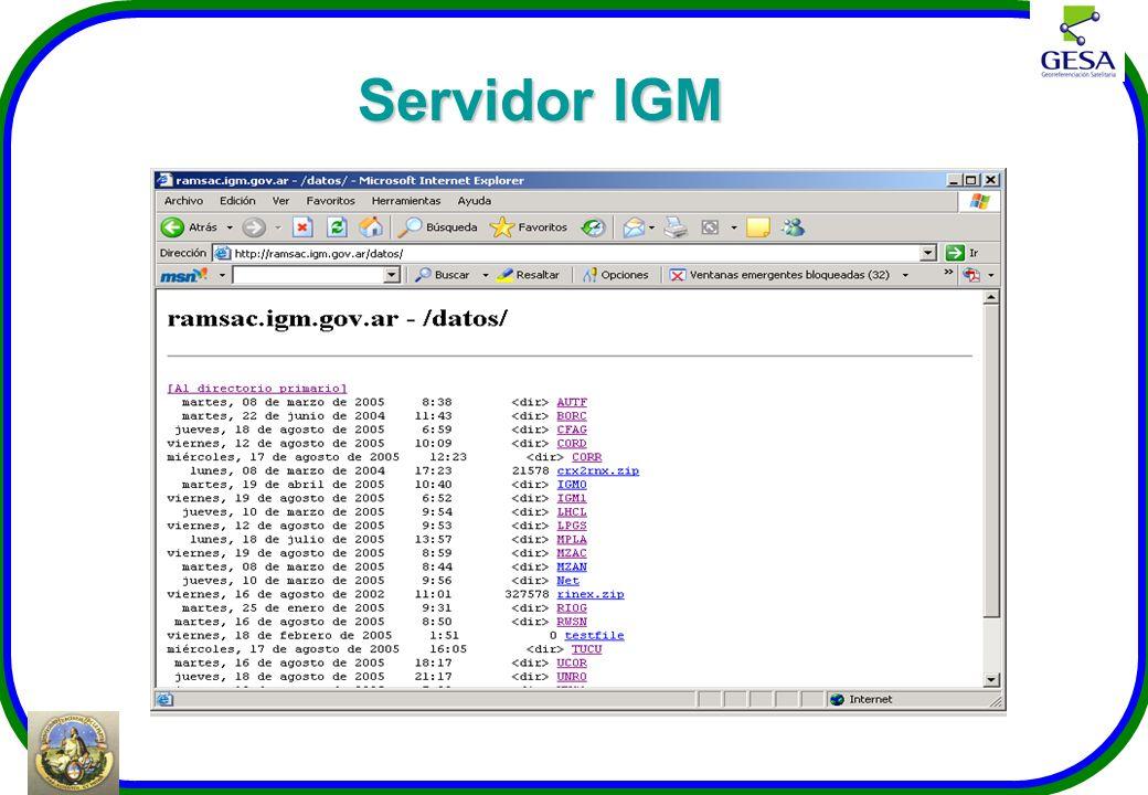 Servidor IGM