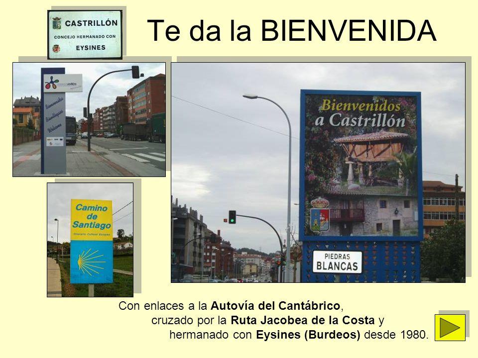 Te da la BIENVENIDA Con enlaces a la Autovía del Cantábrico, cruzado por la Ruta Jacobea de la Costa y hermanado con Eysines (Burdeos) desde 1980.