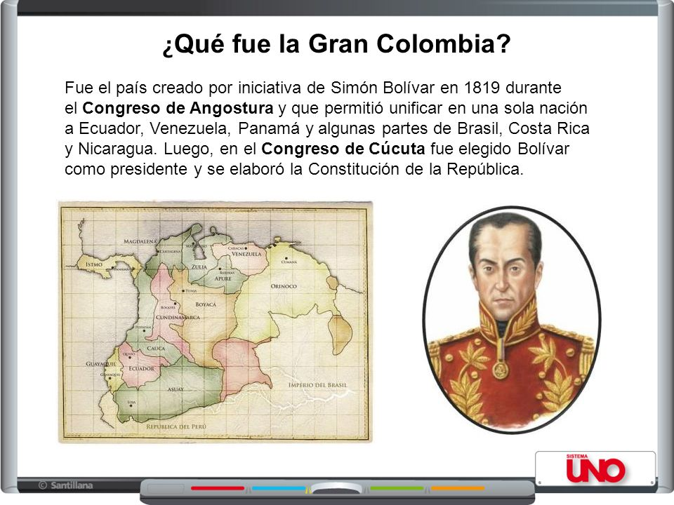 Fue el país creado por iniciativa de Simón Bolívar en 1819 durante el Congreso de Angostura y que permitió unificar en una sola nación a Ecuador, Vene