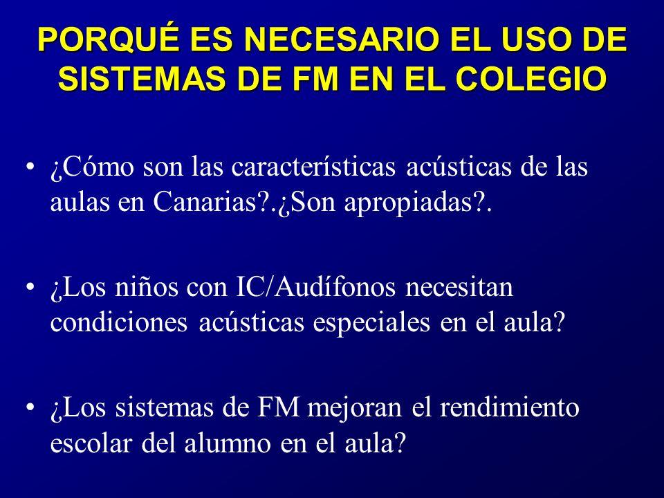 ¿Cómo son las características acústicas de las aulas en Canarias?.¿Son apropiadas?.