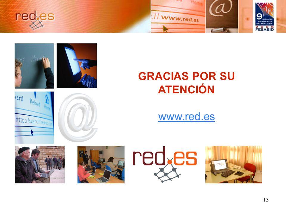 13 GRACIAS POR SU ATENCIÓN www.red.es www.red.es