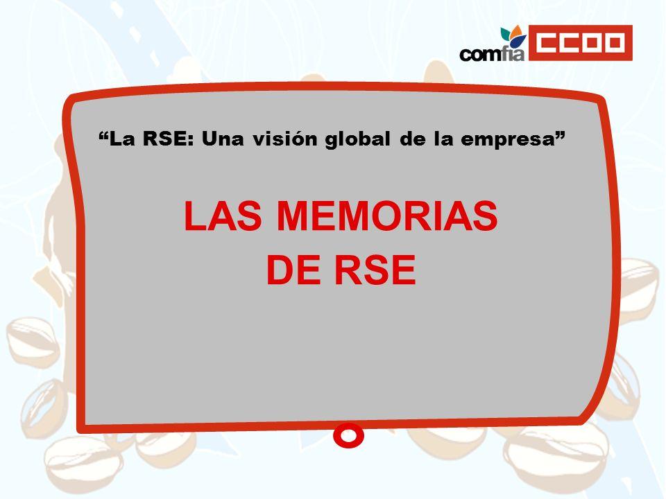La RSE: Una visión global de la empresa LAS MEMORIAS DE RSE