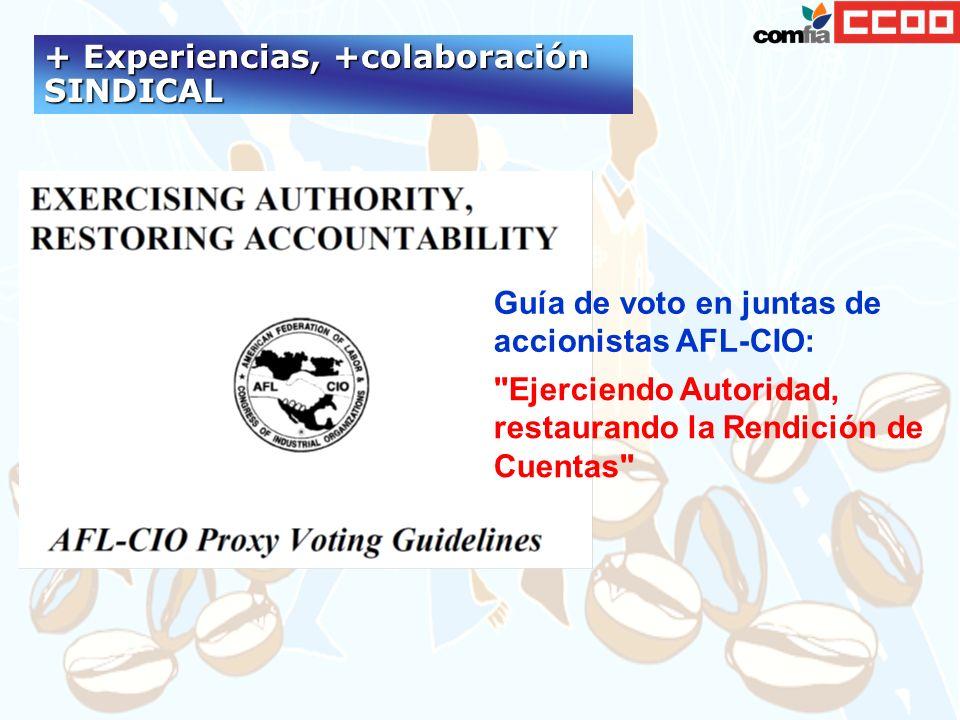 Guía de voto en juntas de accionistas AFL-CIO: