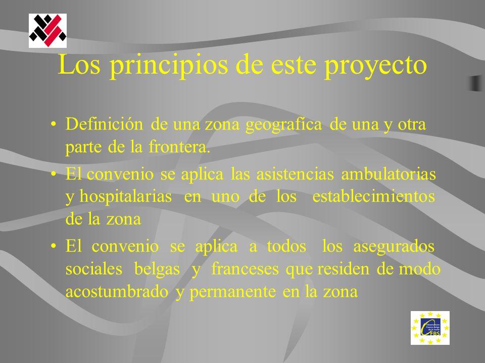 Los principios de este proyecto Definición de una zona geografíca de una y otra parte de la frontera.