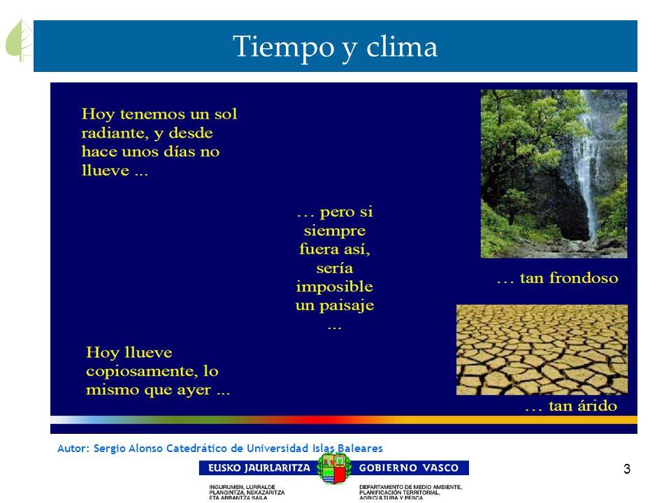 3 Tiempo y clima Autor: Sergio Alonso Catedrático de Universidad Islas Baleares