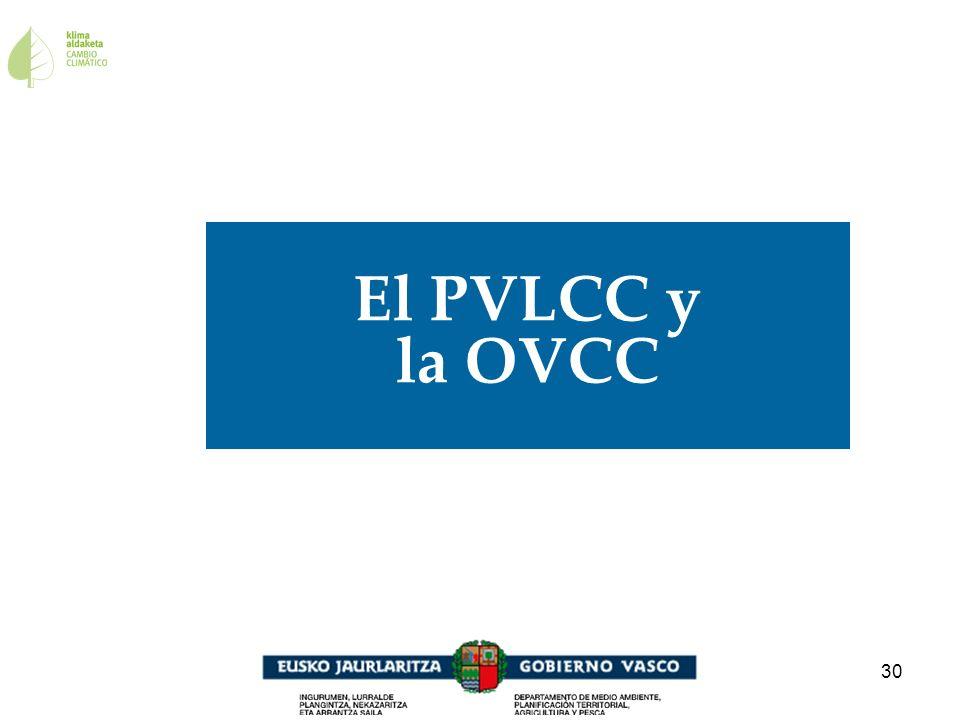 30 El PVLCC y la OVCC