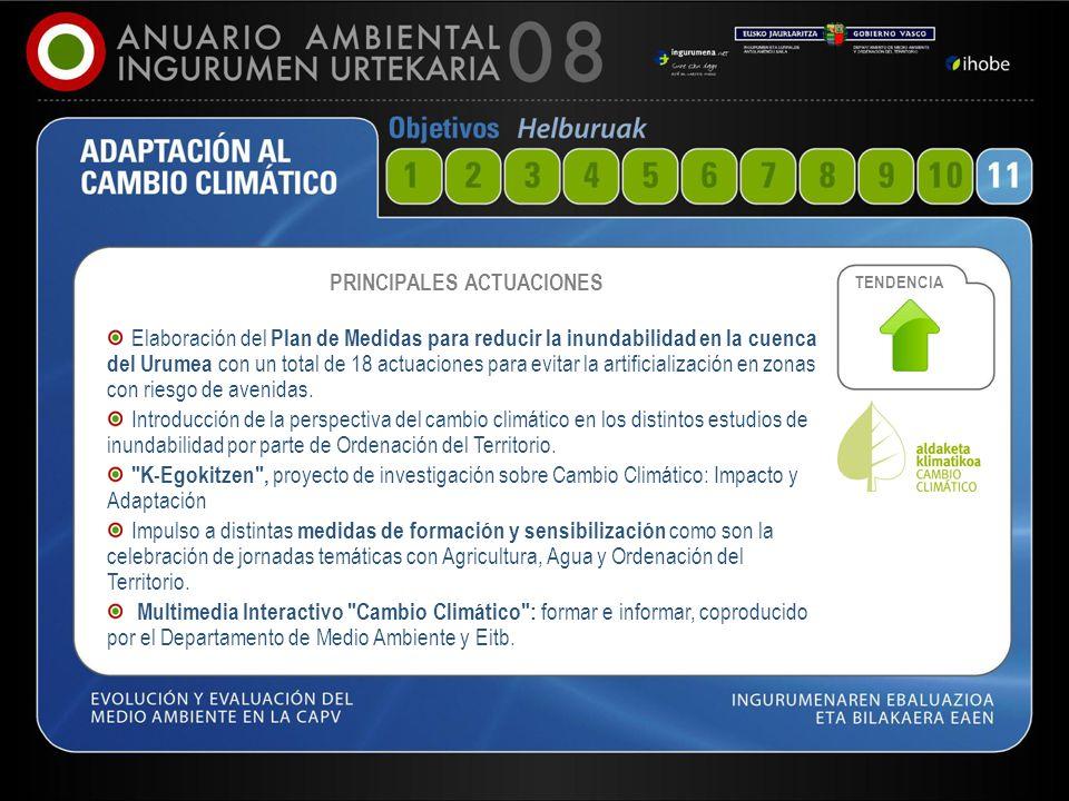 54 PRINCIPALES ACTUACIONES Elaboración del Plan de Medidas para reducir la inundabilidad en la cuenca del Urumea con un total de 18 actuaciones para e