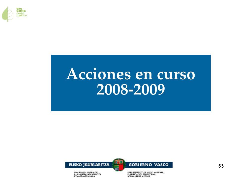 63 Acciones en curso 2008-2009