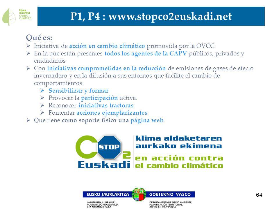 64 Qué es: Iniciativa de acción en cambio climático promovida por la OVCC En la que están presentes todos los agentes de la CAPV públicos, privados y