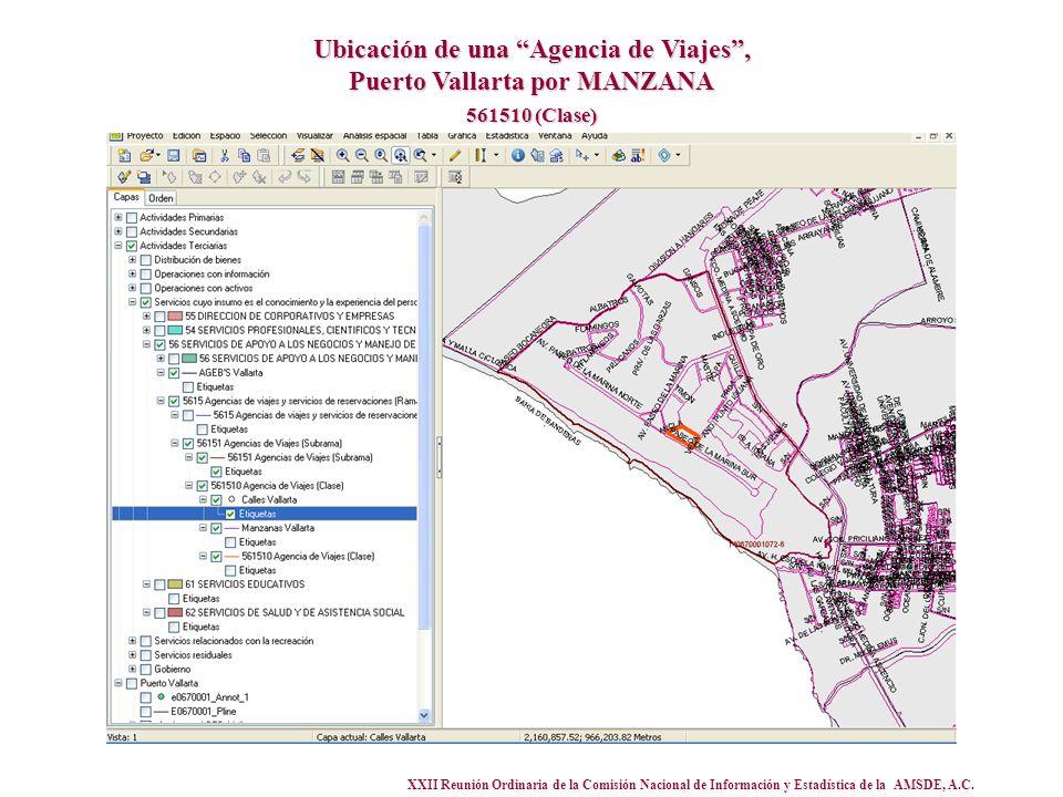 XXII Reunión Ordinaria de la Comisión Nacional de Información y Estadística de la AMSDE, A.C. Ubicación de una Agencia de Viajes, Puerto Vallarta por