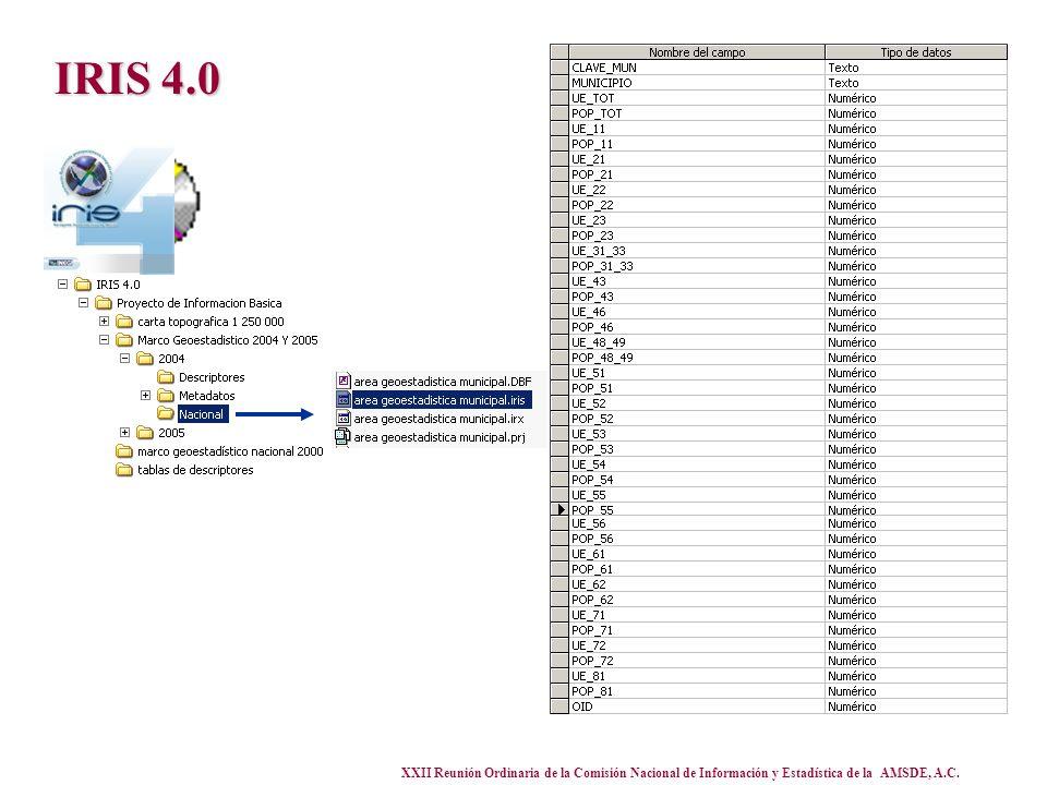 XXII Reunión Ordinaria de la Comisión Nacional de Información y Estadística de la AMSDE, A.C. IRIS 4.0