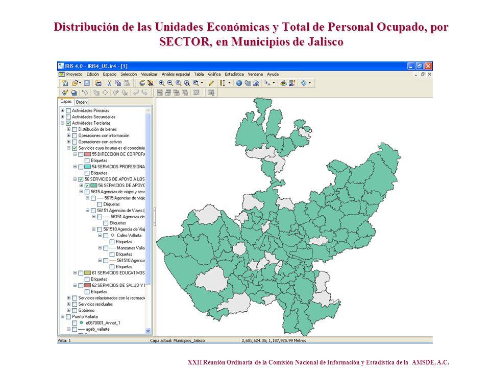 XXII Reunión Ordinaria de la Comisión Nacional de Información y Estadística de la AMSDE, A.C. Distribución de las Unidades Económicas y Total de Perso