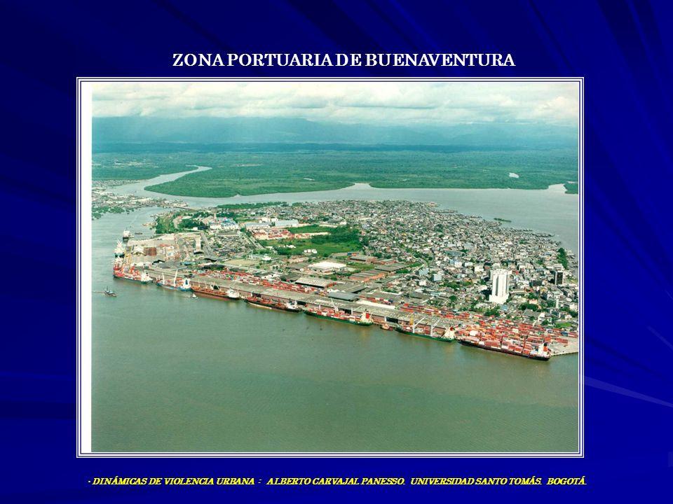ZONA PORTUARIA DE BUENAVENTURA DINÁMICAS DE VIOLENCIA URBANA : ALBERTO CARVAJAL PANESSO. UNIVERSIDAD SANTO TOMÁS. BOGOTÁ.