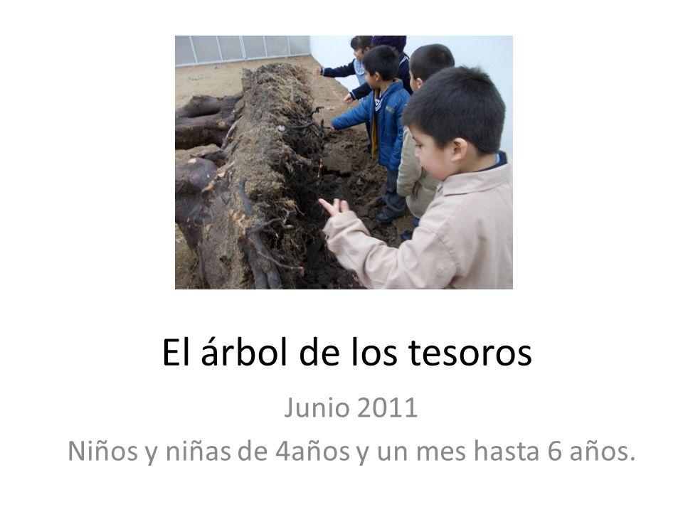 El árbol de los tesoros Junio 2011 Niños y niñas de 4años y un mes hasta 6 años.