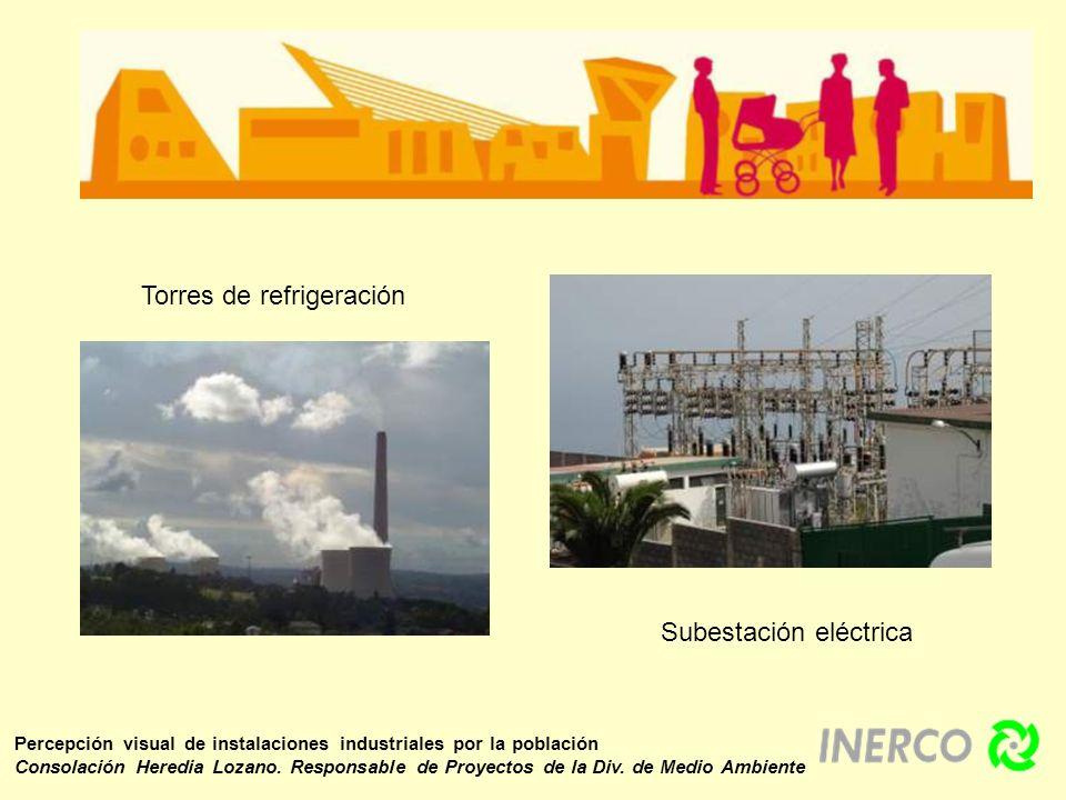 Cuando estas instalaciones adoptan otra tipología, la población no las percibe de forma negativa Percepción visual de instalaciones industriales por la población Consolación Heredia Lozano.