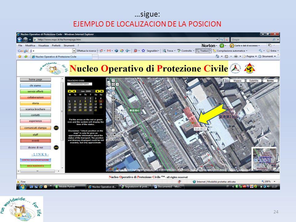 …sigue: EJEMPLO DE LOCALIZACION DE LA POSICION 24