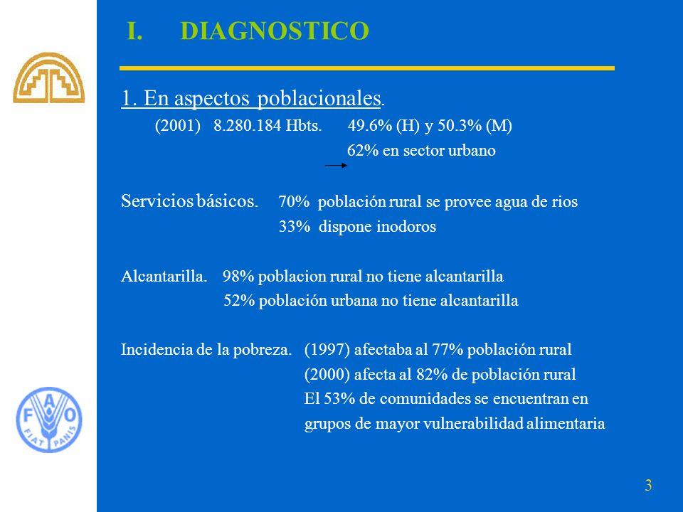 3 I.DIAGNOSTICO 1.En aspectos poblacionales. (2001) 8.280.184 Hbts.