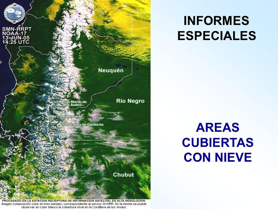 AREAS CUBIERTAS CON NIEVE INFORMES ESPECIALES