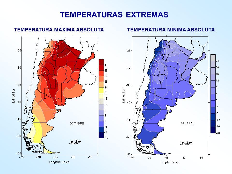 TEMPERATURA MÁXIMA ABSOLUTA TEMPERATURA MÍNIMA ABSOLUTA TEMPERATURAS EXTREMAS
