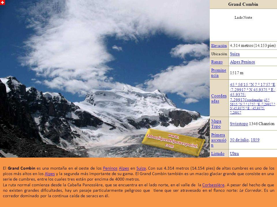 Lagginhorn Elevació n 4.010 metros (13.156 pies) Ubicació n ValaisValais, SuizaSuiza RangoAlpes Peninos Promine ncia 511 m (1.677 pies) Coorden adas 4