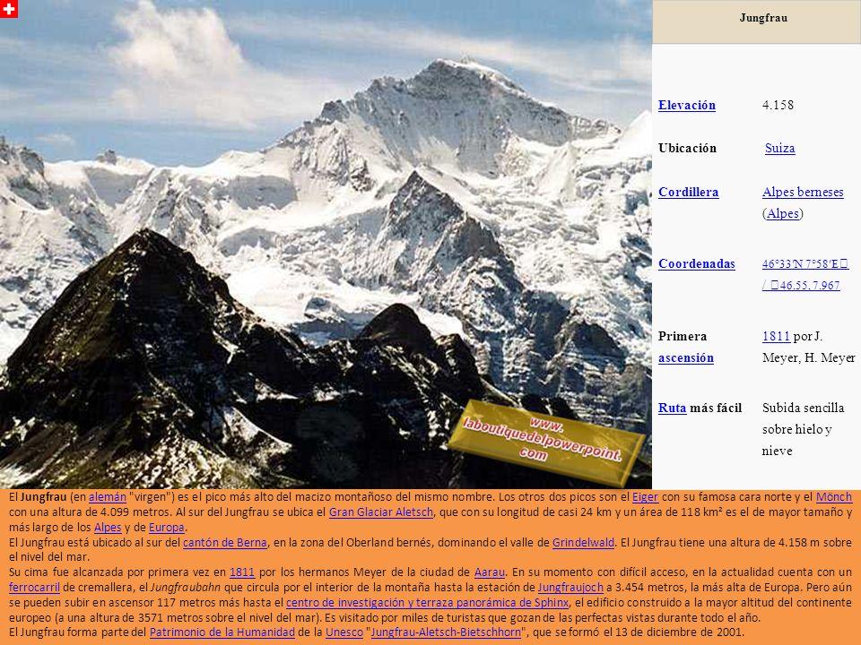 Grand Combin Lado Norte Elevación 4.314 metros (14.153 pies) Ubicación Suiza RangoAlpes Peninos Promine ncia 1517 m Coorden adas 45 ° 56'15