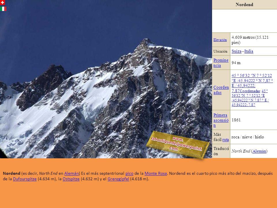 Hohberghorn Elevación4.219 metros (13.841 pies) Ubicación Suiza RangoAlpes Peninos Prominen cia 77 m (253 pies) Coordena das 46 ° 6'45.7